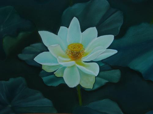 Lotus (pastel de Gervais Bourgué)